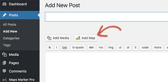 Add map button