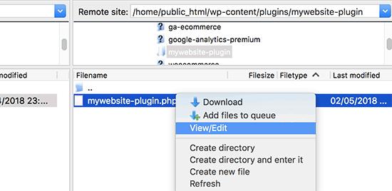 Editing plugin file via FTP