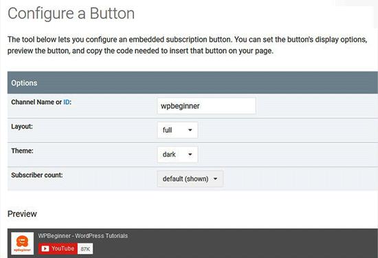 Configuration Button
