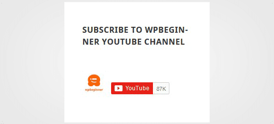 Subscribe to YouTube Channel in Sidebar