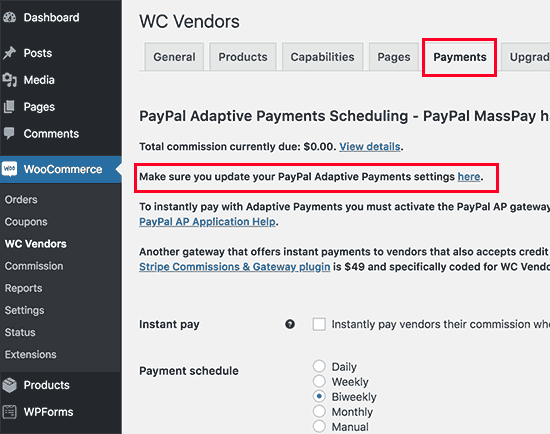 Scheduling payments