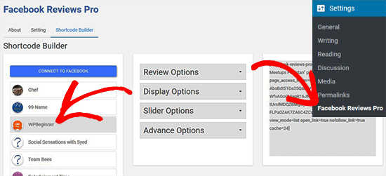 Create Shortcodes for Facebook Page Reviews