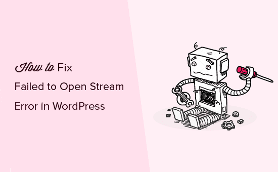 Failed to open stream error in WordPress