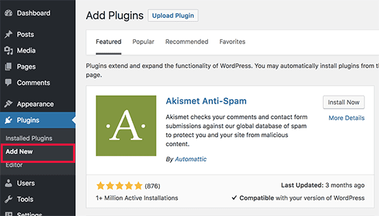 Adding WordPress plugins