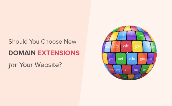 Should you choose new domain extensions for your website?