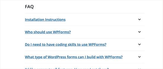 Plugin FAQs section