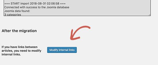 Modify internal links