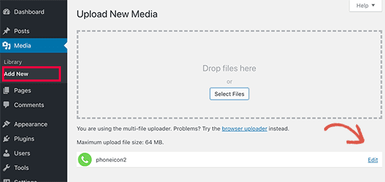 Upload phone icon