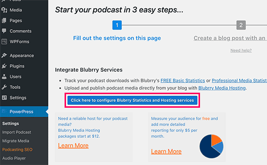 Setup Blubrry in Powerpress plugin
